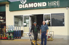 Diamond Hire front view'